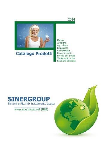 Sinergroup Catalogo Cartucce Ricaricabili contenitori vuoti trasparenti polifosfato resina cationica anionica calcite