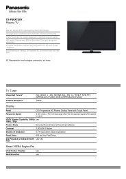 TX-P50XT50Y Plasma TV TV Tuner Display Smart VIERA ... - Tretti.se