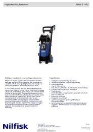 Högtryckstvättar, konsument Nilfisk E 140.2 - Tretti.se