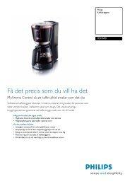 HD7690/90 Philips Kaffebryggare - Tretti.se