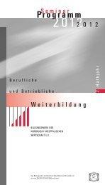 SEMINARPROGRAMM 2. Halbjahr 2012 - Bildungswerk der ...