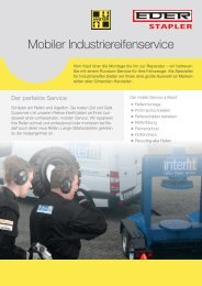 Mobiler Industriereifenservice - EDER Stapler - Hyster