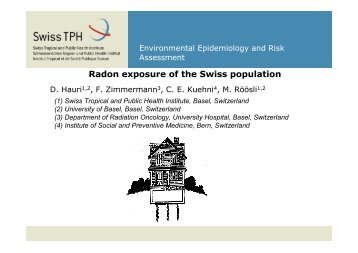 Radon prediction model - Swiss Public Health Conference 2011