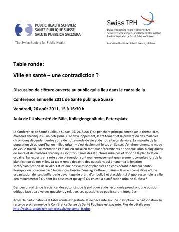 Public Health Schweiz - PHCH – Jahreskonferenz 2011 – 25