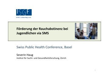 Severin Haug - Swiss Public Health Conference 2011