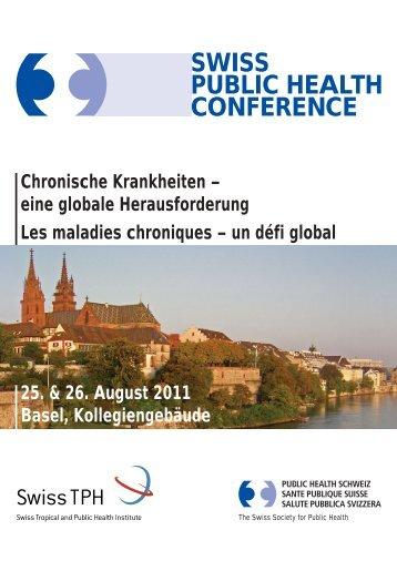 Programm - Swiss Public Health Conference 2011 - Organizers