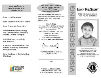 IKS BROCHURE 8-28-2012.pub - Ophthalmology and Visual ...