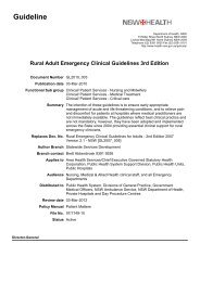 Rural Adult Emergency Clinical Guidelines 3rd Edition
