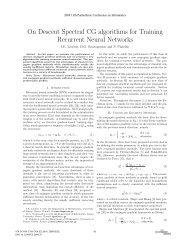 On Descent Spectral CG algorithm for Training Recurrent Neural ...