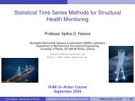 Statistical Time Series Methods for Structural Health Monitoring