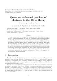 Quantum deformed problem of electrons in the Dirac theory