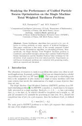 Studying the Performance of Unified Particle Swarm Optimization on ...