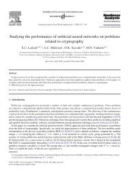 Studying the performance of artificial neural ... - ResearchGate