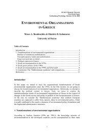 Environmental Organisations in Greece