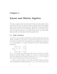 Linear and Matrix Algebra