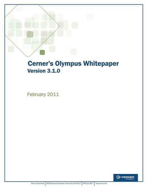 Cerner's Olympus Whitepaper - Cerner Corporation
