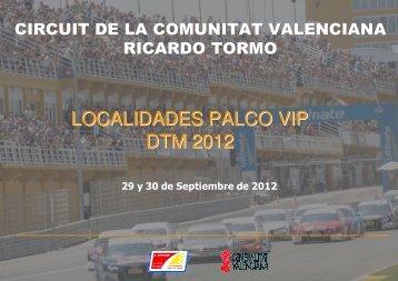 localidades palco vip dtm 2012 - Circuit de la Comunitat Valenciana ...