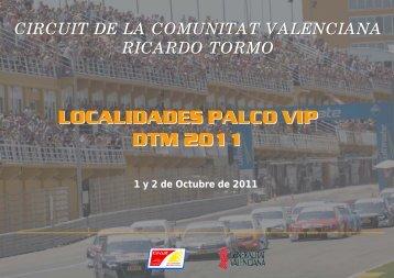 localidades palco vip dtm 2011 - Circuit de la Comunitat Valenciana ...