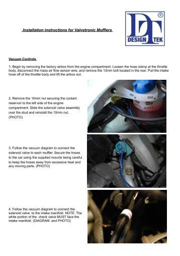 Installation instructions for Valvetronic Mufflers - Design 911