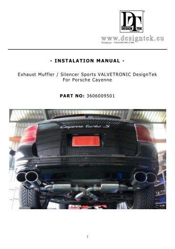 INSTALATION MANUAL - Design 911