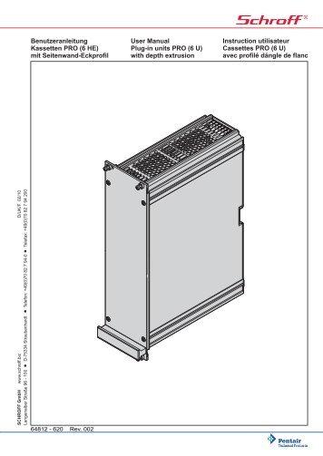 Benutzeranleitung Kassetten PRO (6 HE) mit Seitenwand-Eckprofil ...