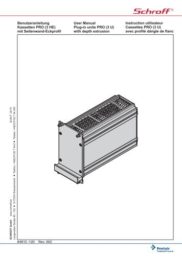 Benutzeranleitung Kassetten PRO (3 HE) mit Seitenwand ... - Secomp