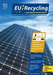 EU-Recycling 07/2013 - SecondSol