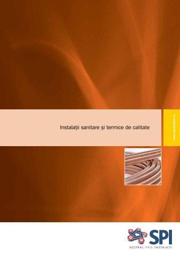 Instalaţii sanitare şi termice de calitate - Secpral Pro Instalatii