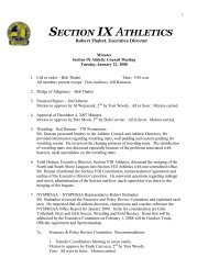 January 22, 2008 Click Here for Minutes - Section IX Athletics