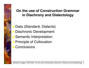 "Construction Grammar is compatible with ""lexicalization"""
