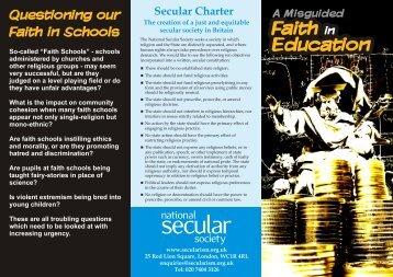 Faith Schools - National Secular Society