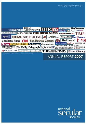 NSS Annual Report 2007 - National Secular Society