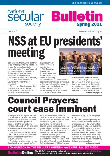 NSS Bulletin 47 Spring 2011 Web - National Secular Society