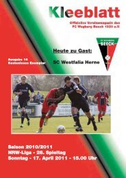 SC Westfalia Herne - FC Wegberg-Beeck 1920 e.V.