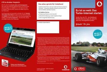 Es ist so weit: Das Turbo-Internet startet. - Vodafone