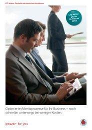 Optimierte Arbeitsprozesse für Ihr Business – noch ... - Vodafone