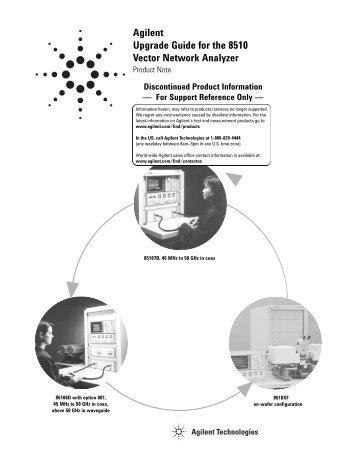 Agilent 8510XF Vector Network Analyzer Single-Connection, Single
