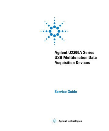 Agilent U2300A Series USB Multifunction Data Acquisition Devices