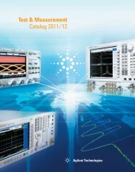 Test & Measurement Catalog 2011/12 - Agilent Technologies