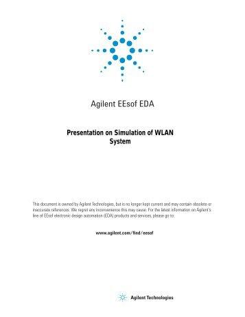 Presentation on Simulation of WLAN System - Agilent Technologies
