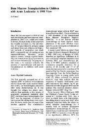 Bone Marrow Transplantation in Children with Acute Leukemia: A ...