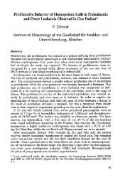 Proliferative Behavior of Hemopoietic Cells in Preleukemia and ...