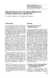 Molecular Properties of a Factor Inducing Differentiation in Murine ...