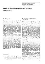 Vitamin D: Myeloid Differentiation and Proliferation - Table of ...