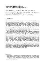 Leukemia Specific Antigens - Table of contents 1
