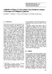 Antibodies to Human T-Cell Leukemia Virus-Membrane Antigens in ...