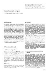 Human Leucocyte Antigens - Table of contents 1