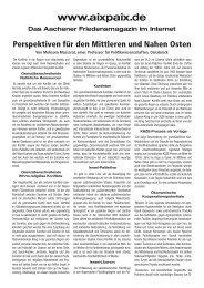 Perspektiven für den Mittleren und Nahen Osten - Aachener ...