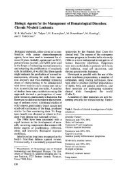 Biologic Agents for the Management of Hematological Disorders ...