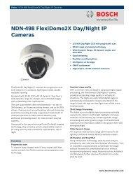 NDN-498 FlexiDome2X Day/Night IP Cameras - Norbain SD Ltd